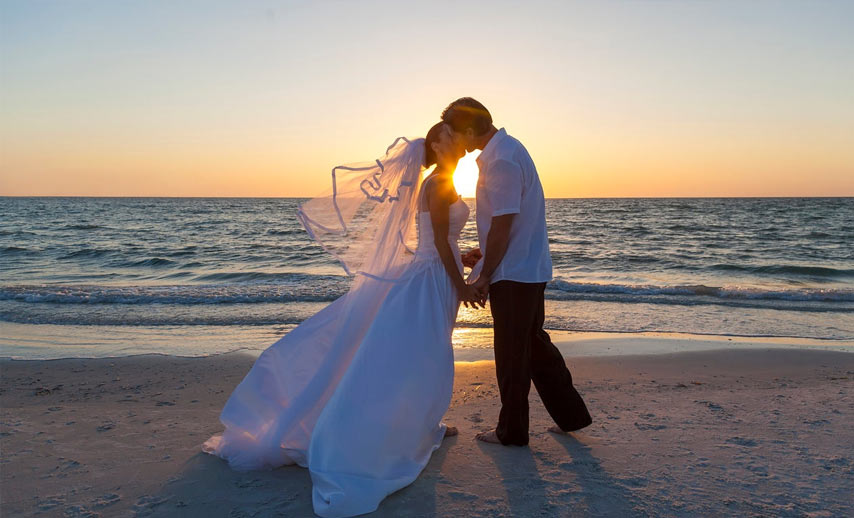 sunset wedding in mauritius