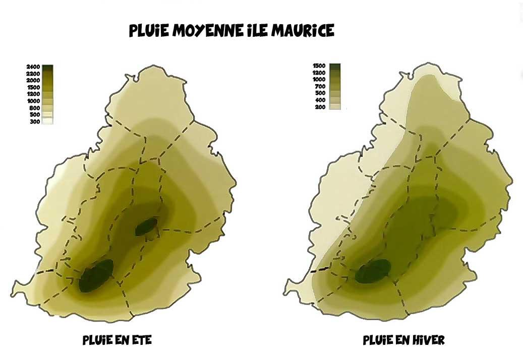 Pluie moyenne ile Maurice