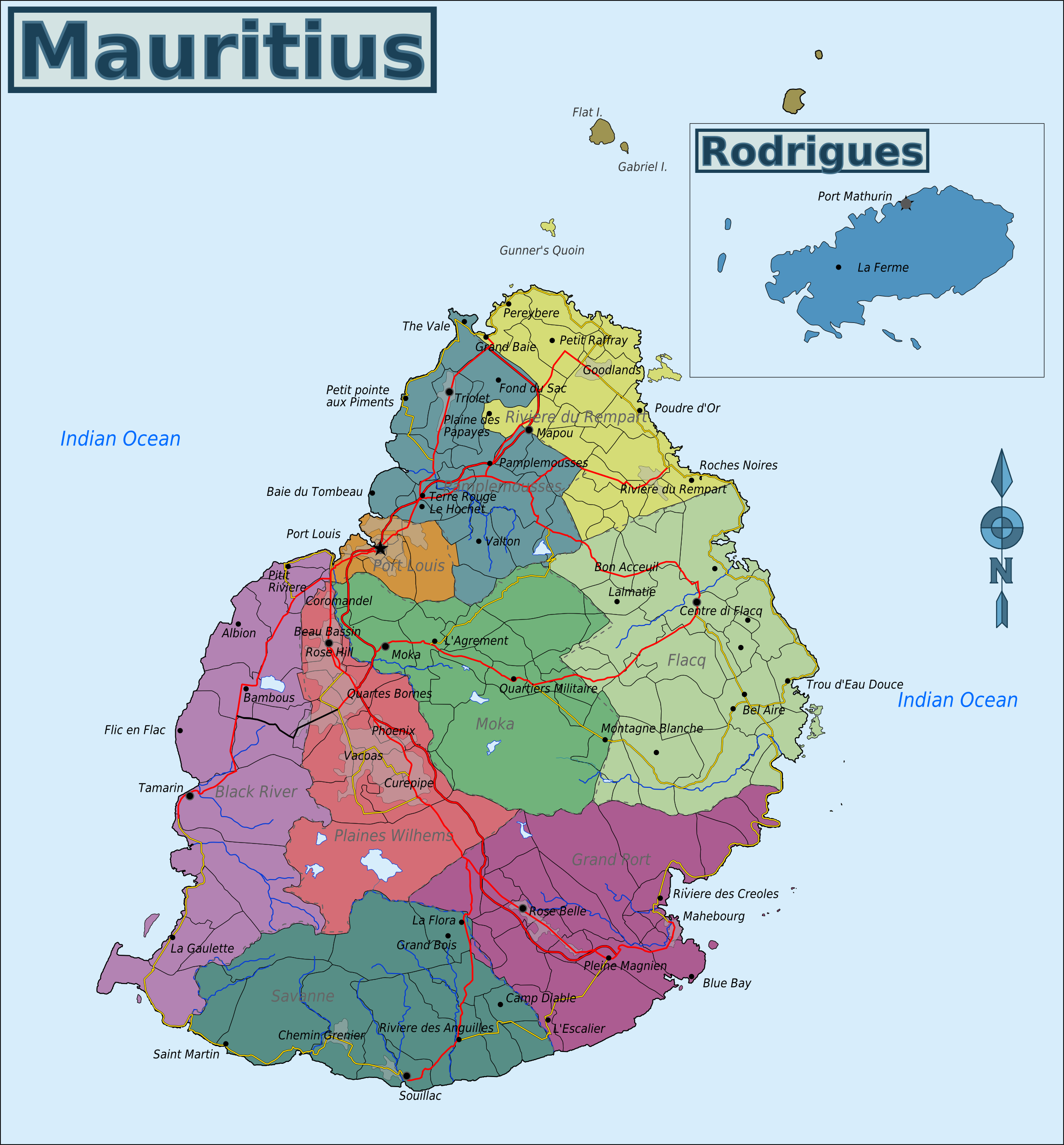 Weather Map Mauritius Map of Mauritius   Mauritius on Google Map